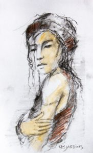 André Desjardins-Charcoal-oil-Sketches-exploration-Galerie Roccia-Magog