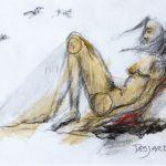 André Desjardins-Charcoal-oil-Sketches-exploration-Galerie Roccia-Magog