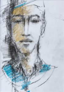 André Desjardins-Croquis-Fusain et huile-Sketch-voyage-exploration-Galerie Roccia-Magog